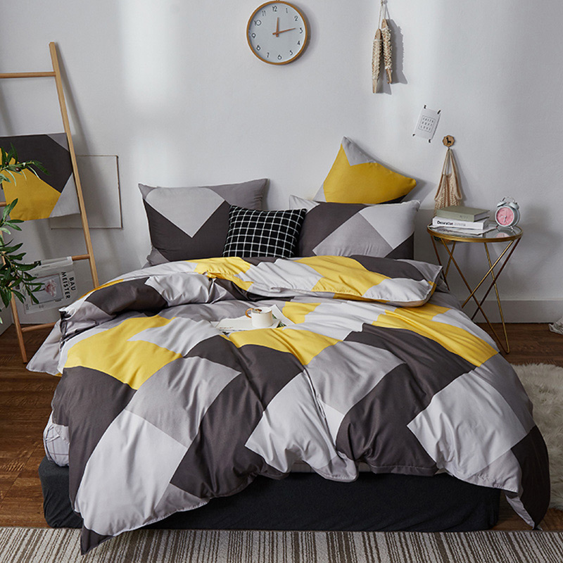Fashion Bedding Set Pure Cotton A/B Double-sided Pattern  Simplicity Bed Sheet, Quilt Cover Pillowcase 4-7pcs