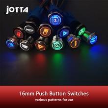 16 мм светодиодный индикатор светильник лампа приборной панели Панель Предупреждение светильник металлический кнопочный переключатель Вы...