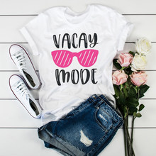Women Vacay Mode Travel Beach Fashion Print Clothes Ladies Womens Tops Clothes Female Tumblr T-Shirt Graphic T Shirt T-shirts(China)