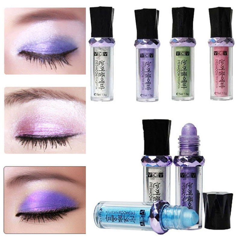 Makeup Roll-On Eyeshadow Powder Single Color Glitter Pigment Loose Powder Delicate Powder Waterproof Non-blooming Quality