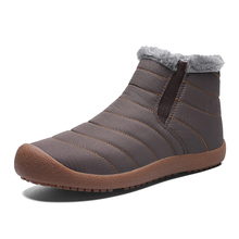 Brand Men Snow Boots Warm Plush Winter Casual Shoes Quality Waterproof Ankle Non-slip Plus Size 38-48
