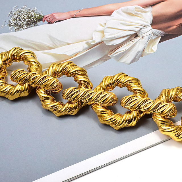 New Gold Metal Hoops Delicate Bracelet 3