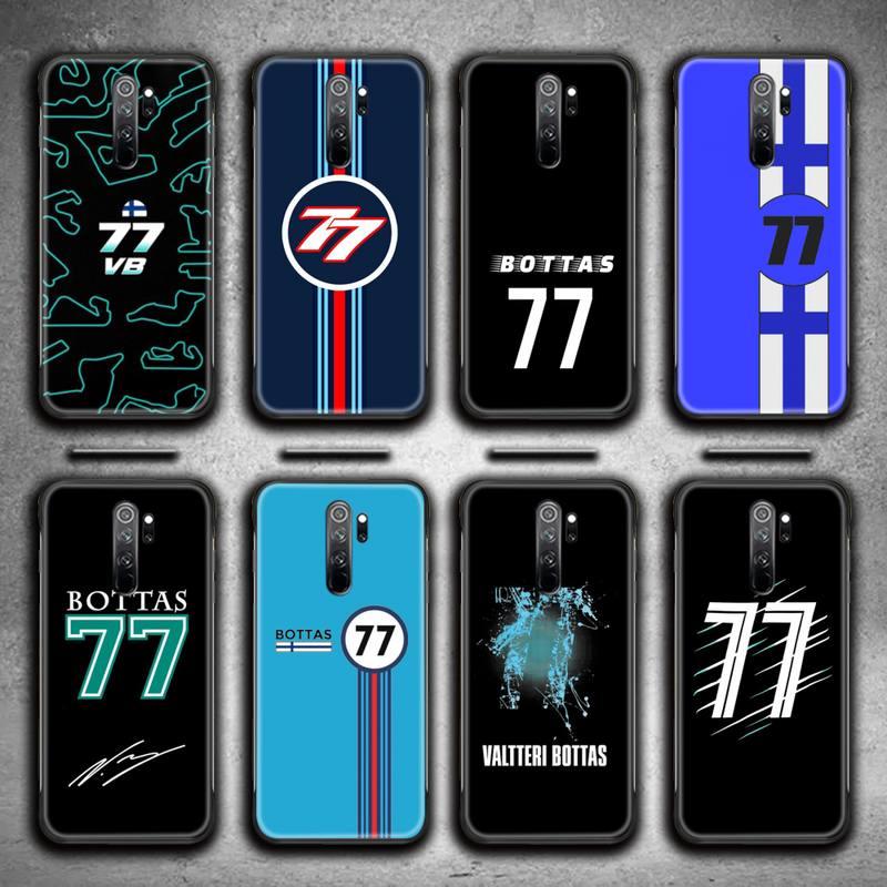 Custodia per telefono Formula 1 F1 Racer Bottas 77 per Redmi 9A 8A 7 6 6A nota 9 8 8T Pro Max Redmi 9 K20 K30 Pro