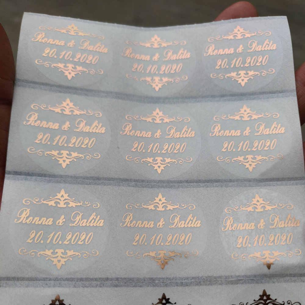 100 אישית מותאם אישית Hennaday טבילת חתונת אירוסין יום נישואים מפלגה טובות מדבקות תוויות עלה זהב כחול אדום