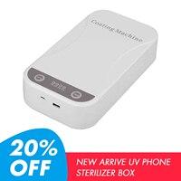 Caixa uv portátil do esterilizador do telefone celular escova de dentes caixa desinfecção desinfetante com cabo usb luzes uv duplas|Pacotes de acessórios para celular| |  -