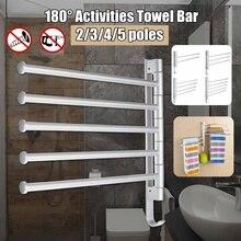 Нержавеющая сталь удар Полотенце Бар вращающаяся стойка для полотенец Ванная комната Кухня Настенный полотенце полированная стойка держатель оборудования