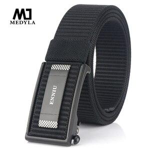 Medyla 2020 novo cinto de náilon militar dos homens nova tecnologia alta qualidade fivela automática cinto tático 3.5cm esportes