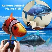 Креативный пульт дистанционного управления летающая воздушная акула игрушка RC радио Надувные Клоун воздушные шары в виде рыбы подарок Гор...