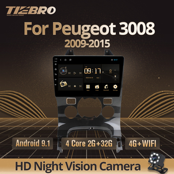 TIEBRO 2din Android 9.0 Car Radio For Peugeot 3008 Car GPS Navigation Multimedia Player 2009 2011 2012-2015 2DIN Car DVD Player image