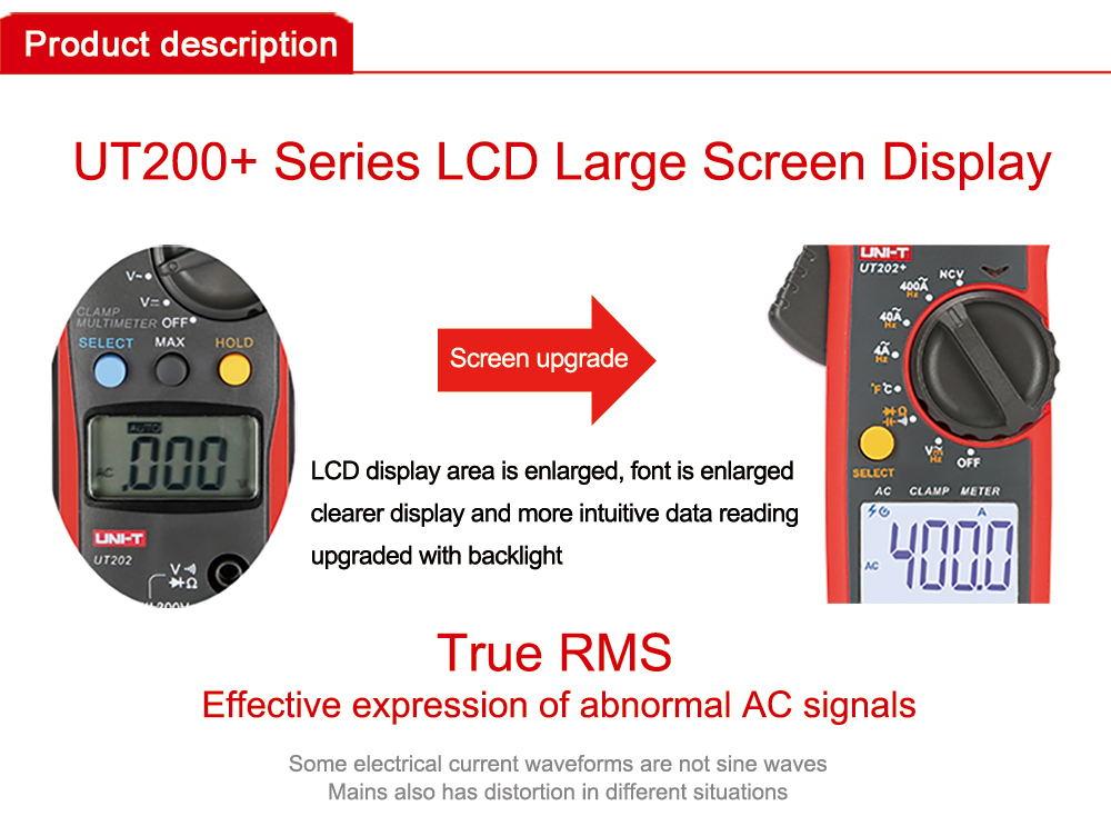 handheld digital braçadeira medidor ac dc atual