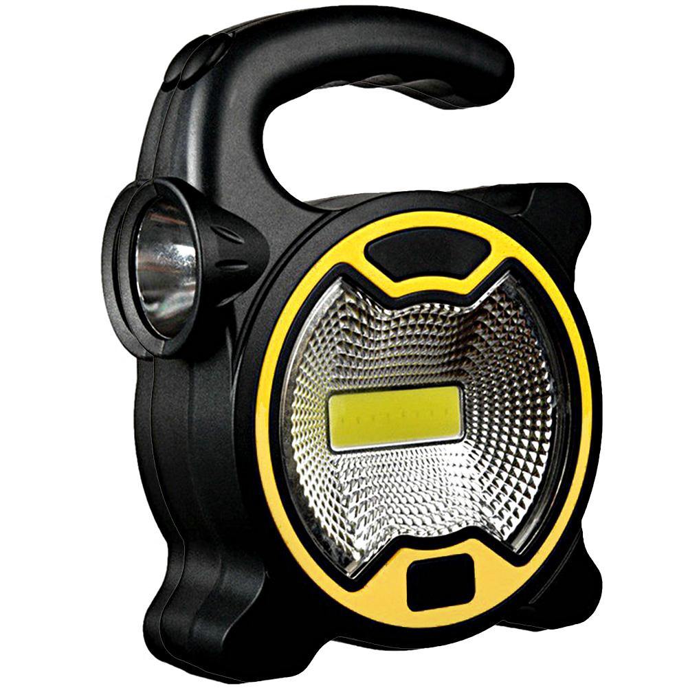 Portable Outdoor Camping Lighting COB LED Spotlight Searchlight Mini Lantern Handheld Work Light Flashlight For Camping Lawn