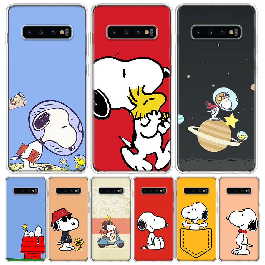 Snoopys Cute Cover <font><b>Phone</b></font> <font><b>Case</b></font> For <font><b>Samsung</b></font> Galaxy S10+ Lite Note 10 9 8 S9 S8 J4 J6 J8 Plus <font><b>S7</b></font> S6 2018 Coque Shell image