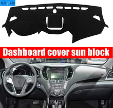 цена на Car Dashboard Cover Mat Pad Sun Shade Instrument Cover Carpet Accessories For Hyundai Santa Fe IX45 Maxcruz 2013 2014 2015 -2018