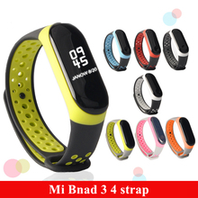 Mi Band 3 4 strap sport Silicone watch wrist Bracelet miband3 strap accessories bracelet smart for Xiaomi mi band 3 4 strap