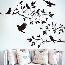 Птица ветка наклейки на стену Дерево лист декоративный винил