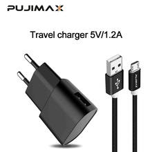 PUJIMAX USB Charger with 1m Cable For iPhone x 5V 1.2A Wall/Travel Portable Mobile Phone Charging Samsung