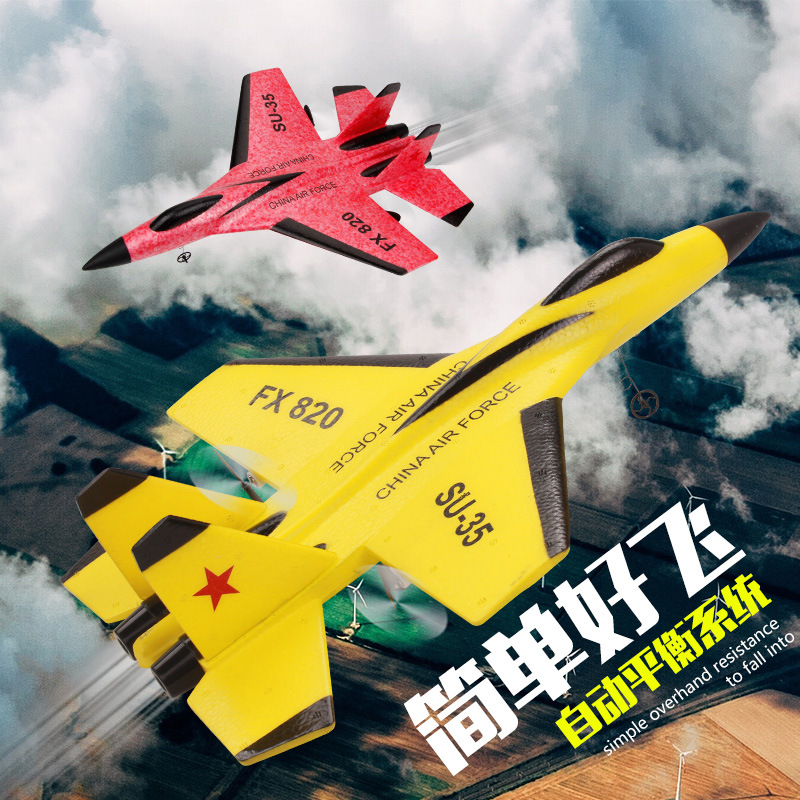 Sue SU35 Remote Control Glider Fixed-Wing Foam Aircraft Model Fx-820 Remote Control Fighter Plane Play