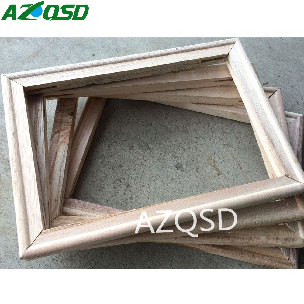 AZQSD 40X50cm DIY Wooden Frame for Oil Painting By Numbers Painting Accessories Calligraphy Frame Mosaic Assembly(China)