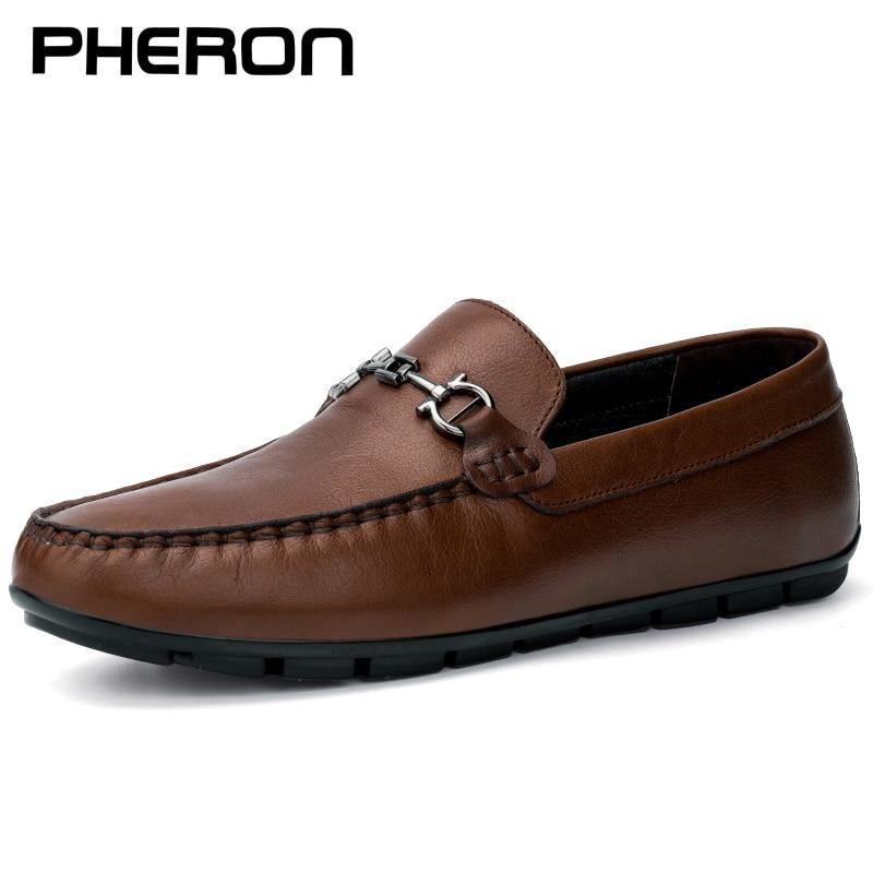 Мужские мокасины из натуральной кожи, повседневные Мокасины, мокасины из дышащего материала, обувь для вождения, большие размеры 36-46, 2020