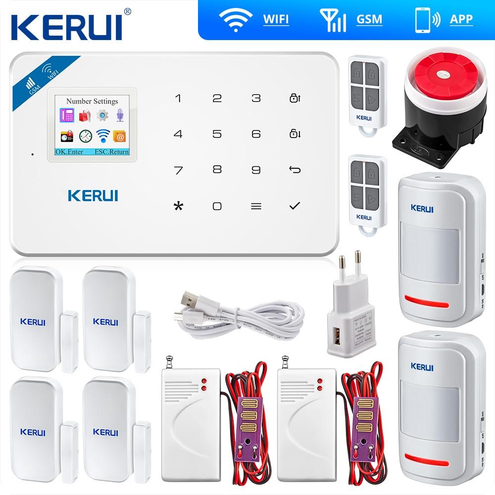 Kerui W18 Беспроводной Wi Fi GSM IOS Android APP контроль домашняя охранная сигнализация умный детектор утечки воды