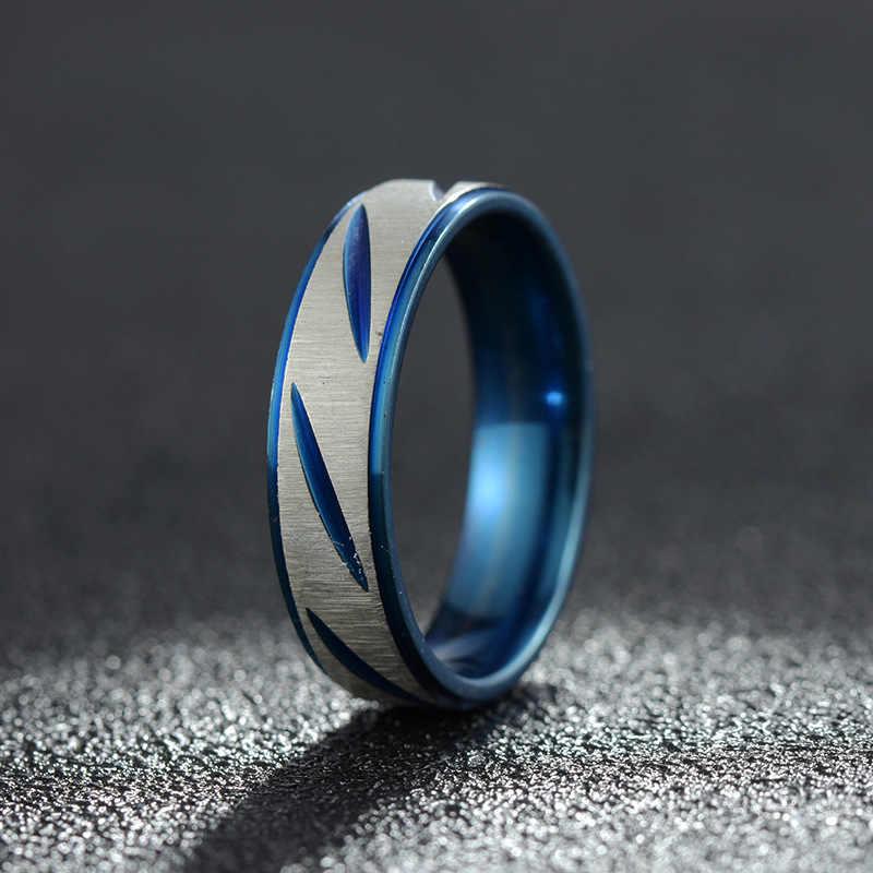 זרוק חינם מותאם אישית שם ספורט לוגו 8mm שחור/כסף/זהב כחול נירוסטה טבעות טבעת אישית עבור גברים