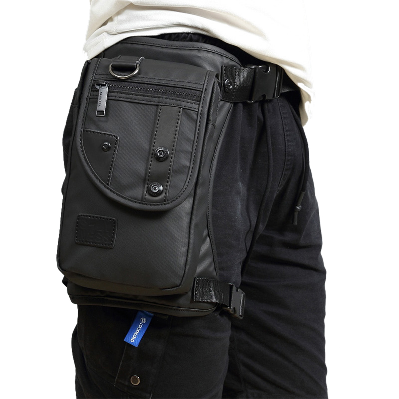 New Men Oxford/Nylon/Canvas Drop Leg Bag Fanny Waist Pack Hip Bum Belt Casual Shoulder Bag Motorcycle Riding Military Thigh Bag