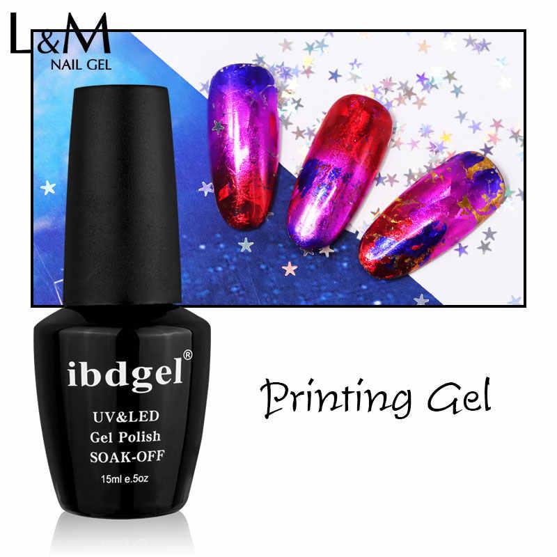 1 Pc Printing Gel Clear Uv/led lamp ibdgel merk gel Eenvoudig te bedienen zwarte fles nagellak lange blijvende