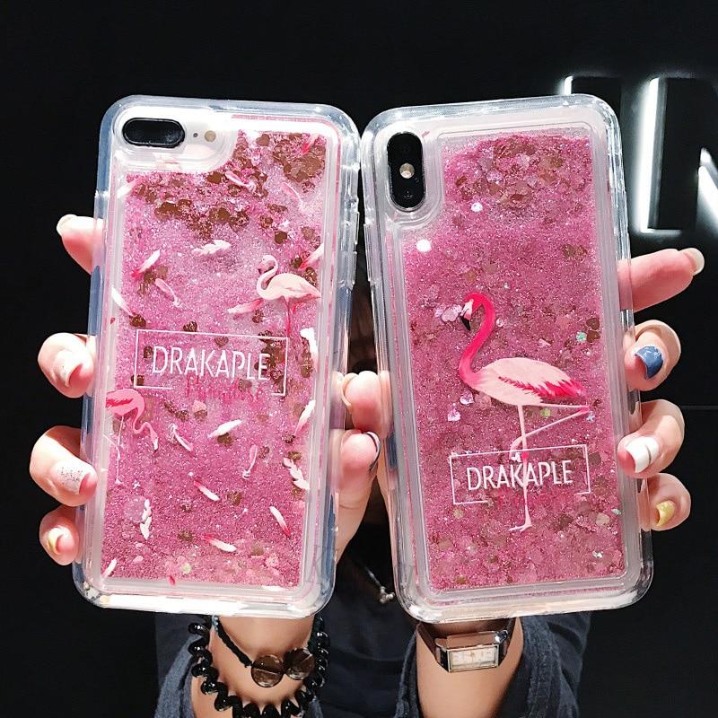 For Samsung Galaxy A50 A30 A70 A20 A10 A40 Note 8 9 S10E S10 S8 S9 A6 A8 J4 J6 Plus 2018 M10 Liquid Glitter Quicksand Case Cover