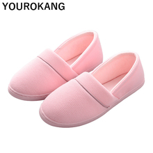Women Shoes Autumn Winter Home Slippers Concise Indoor Warm Household Shoes Slip-on Non-slip Pregnant Ladies Footwear Loafers цена в Москве и Питере
