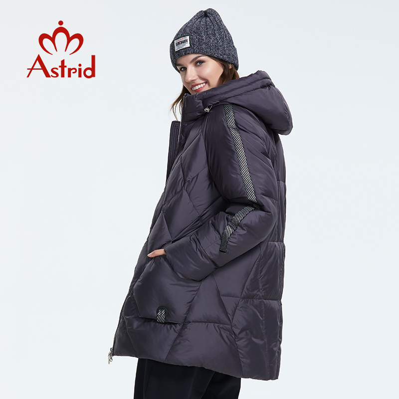 Astrid 2019 Winter New Arrival Down Jacket Women Outerwear Quality With A Hood Short Style Women Fashion Winter Coat AR-7137