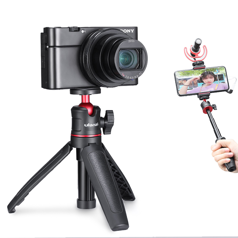 Ulanzi MT 08 DSLR SLR Phone Vlog Tripod Cold Shoe Phone Mount Holder for Microphone LED Light Mini Tripod for Sony A6400 A6300|Live Tripods| - AliExpress