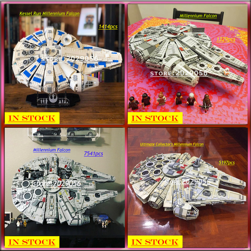 05007 05033 05132 05142 Star Wars Series Ultimate Collector's Kessel Run Millennium Falcon Series Compatible 75105 75192 75212