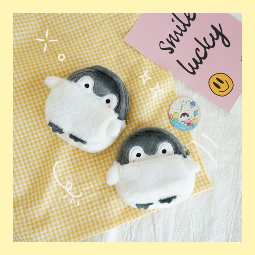 Cute Penguin Plush Mini Wallet Soft Positive Energy Penguin Plush Coin Purse Girls Lovers Valentine's Gifts