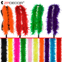 40 Gram 2 Yard per pack Chandelle Feather Boas for Craft Wedding Jewelry Feather Plume