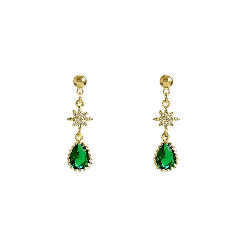 2019 New Arrival Trendy Geometric Women Dangle Earrings Green Retro Elegant Earrings Gift Accessories Elegant Jewelry