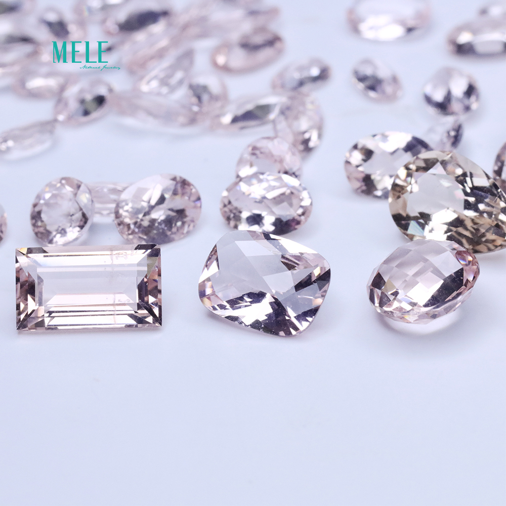 Natural Morganite ite pink beryl nude gemstone Pendant Ring Earring custom matching stone