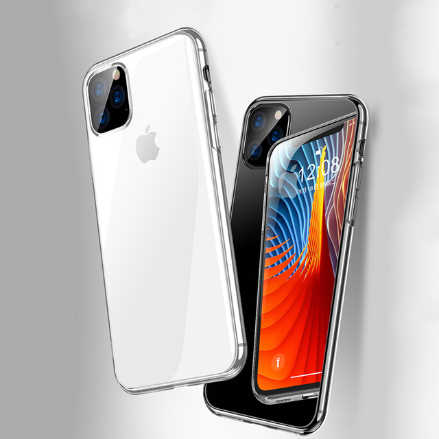 For iPhone 11 12 Case Slim Clear Soft TPU Cover Support Wireless Charging for iPhone 12 11 Pro Max 5.8in 6.1in 6.5in X XR XS MAX