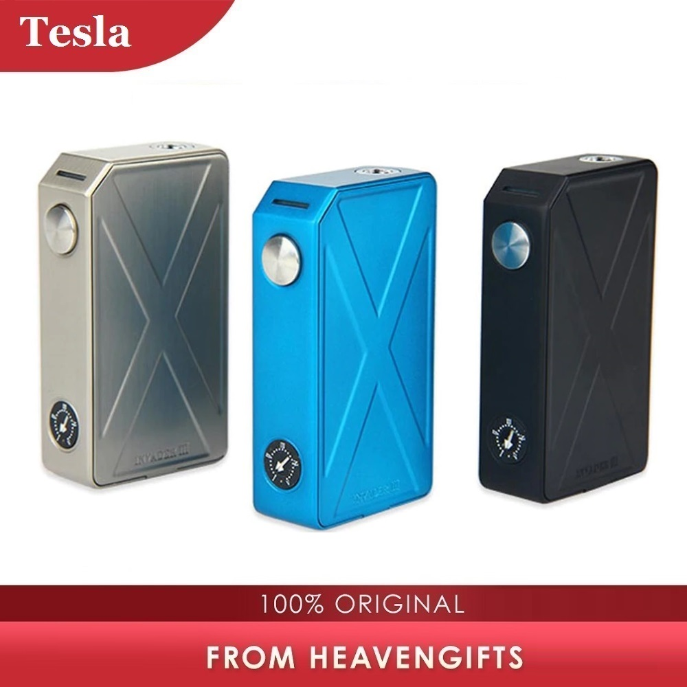 Original 240W Tesla Invader 3 Box Mod 510 Thread For RTA/RDA/RDTA E Cig No 18650 Battery MOD Vs Tesla Nano/ Tesla WYE/ Drag 2