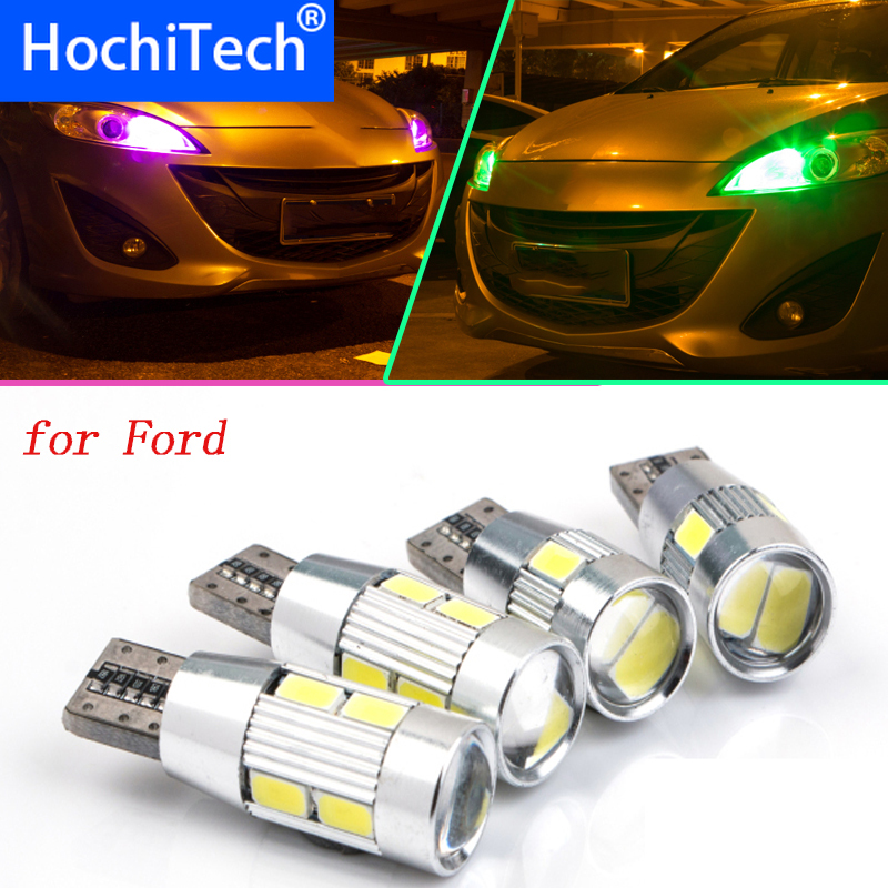 1pc Safe No Error T10 Parking Front Side Marker Light Bulb Source Car Styling For Ford Focus 2 3 4 1 Fiesta Fusion LED