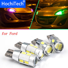 1pc Veilig Geen Fout T10 Parking Front Side Marker Light Bulb Bron Auto Styling Voor Ford Focus 2 3 4 1 Fiesta Fusion LED(China)
