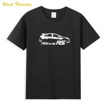 Ford Focu RS в виде букв и цифр Новейшая летняя мужская футболка с коротким рукавом Мужская Популярные футболки, рубашка, топы