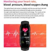 Reloj de pulsera inteligente para hombre y mujer, nuevo accesorio de pulsera de M6 resistente al agua IP67 con Monitor de ritmo cardíaco y presión arterial, pantalla a Color para teléfono móvil, 2021