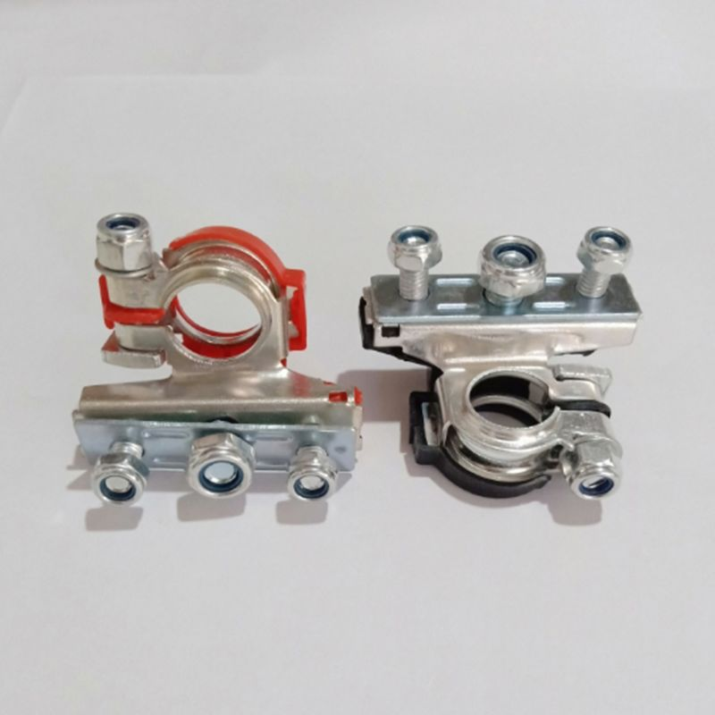 2 Pcs DC 12V Copper <font><b>Car</b></font> <font><b>Battery</b></font> Terminal <font><b>Connector</b></font> <font><b>Battery</b></font> Quick Release <font><b>Battery</b></font> Clamps for Most Vehicles image