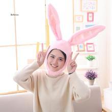 Hat Bunny Ears-Hat Plush Rabbit for Girls Kids Birthday Earflap-Cap Head-Warmer Photo-Supplies