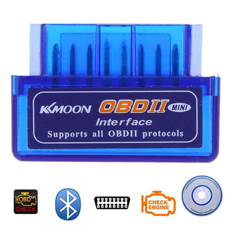 ELM327 V2.1 Мини Bluetooth OBD2 сканер автомобильный диагностический инструмент считыватель кодов совместим с Android Torque автомобильные аксессуары