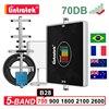 Lintratek 5 Five Band 2G 3G 4G Cellular Amplifer LTE 700 900 1800 2100 2600 Signal Booster B28 B7 B8 B3 B1 Repeater Antenna Kit