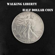 1PC Walking Liberty Half Dollar (Copper) Magic Tricks Magician Close Up Props Accessories Illusions Coin Appear/Disappear Magia
