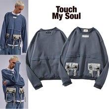 Kanye Бибер fog шить лямки с несколькими карманами Ретро Повседневный