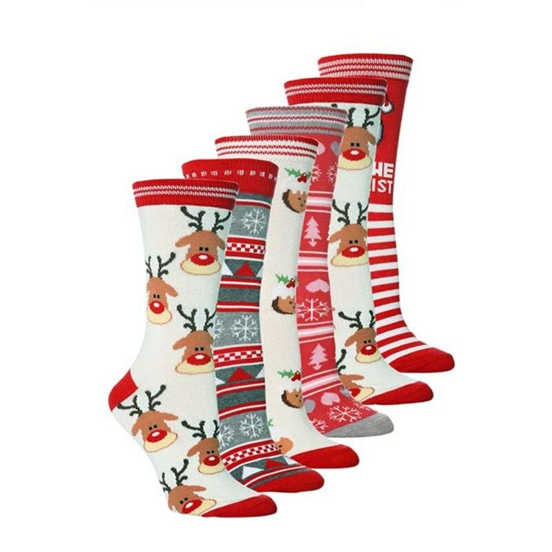 Women Funny Funky Crazy Dress Socks Winter Warm Casual Stockings Girls Holiday Novelty Crew Socks