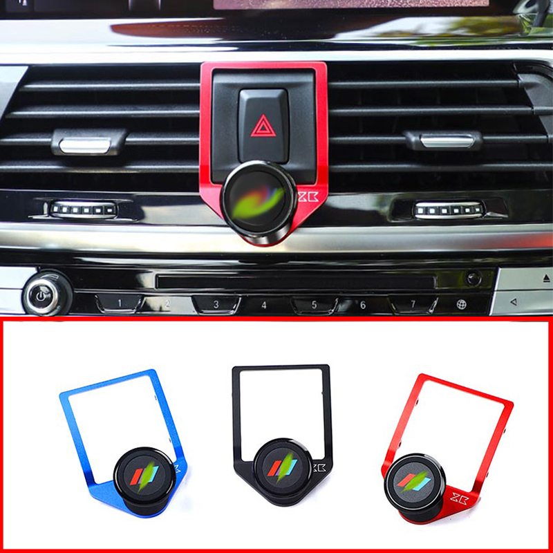 3 Colors Aluminum Alloy Car Center Air Vent Mobile Phone Holder Accessories For BMW X3 X4 G01 G02 2018 2019|Interior Mouldings| |  - title=